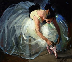 Last Adjustments by Sherree Valentine Daines -  sized 14x12 inches. Available from Whitewall Galleries